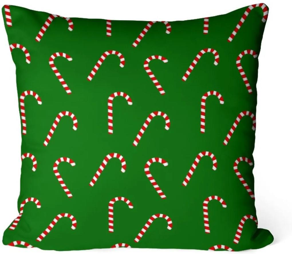 Capa de Almofada Love Decor Avulsa Decorativa Balas de Natal