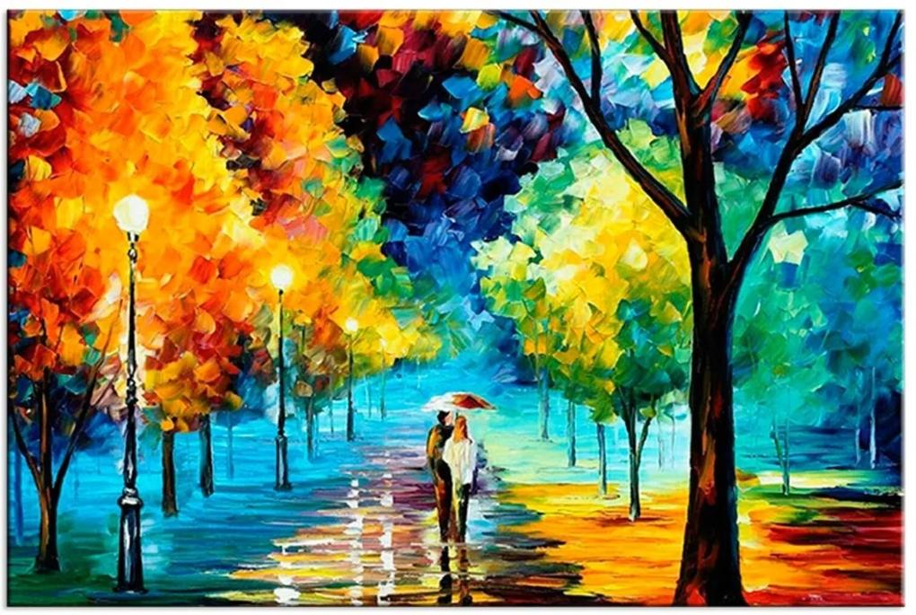 Tela Decorativa Pintura Colorida Grande Love Decor