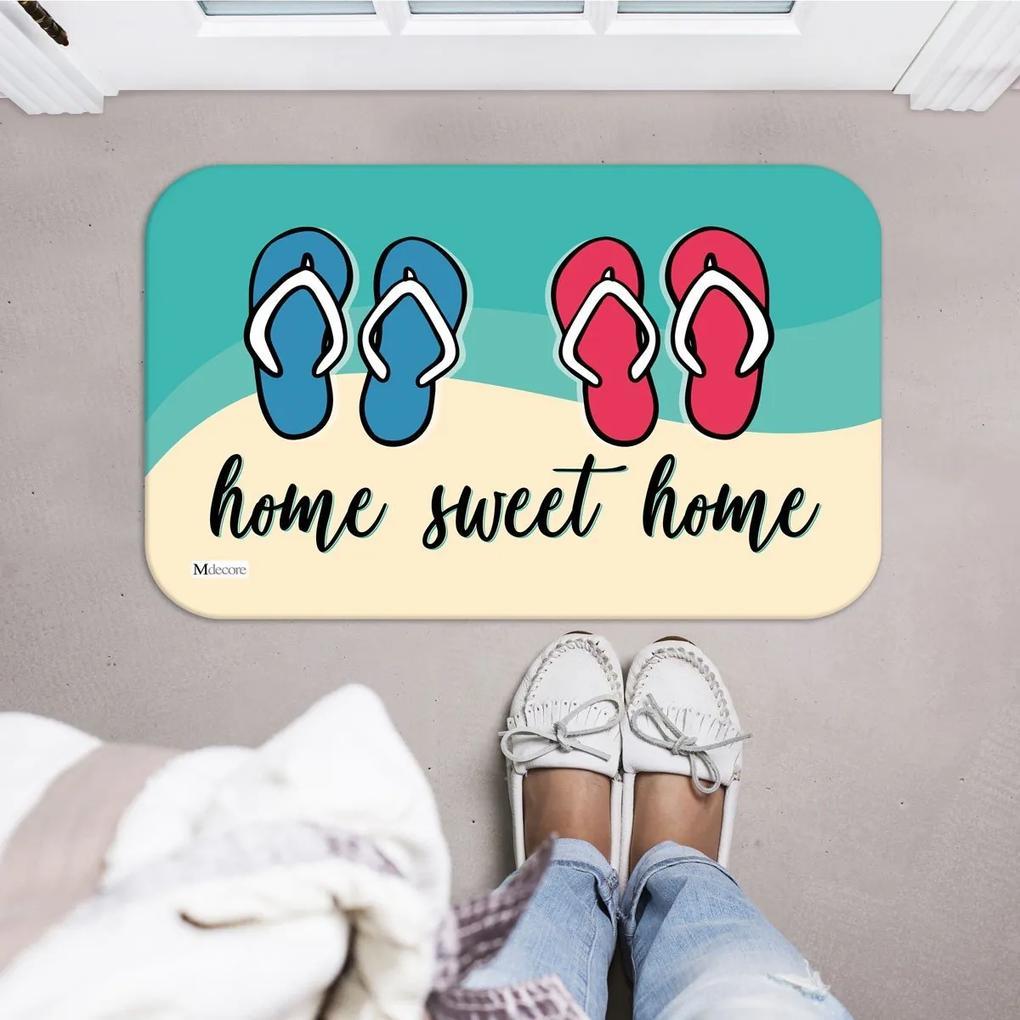 Tapete Decorativo Home Sweet Home Chinelos Colorido40x60cm