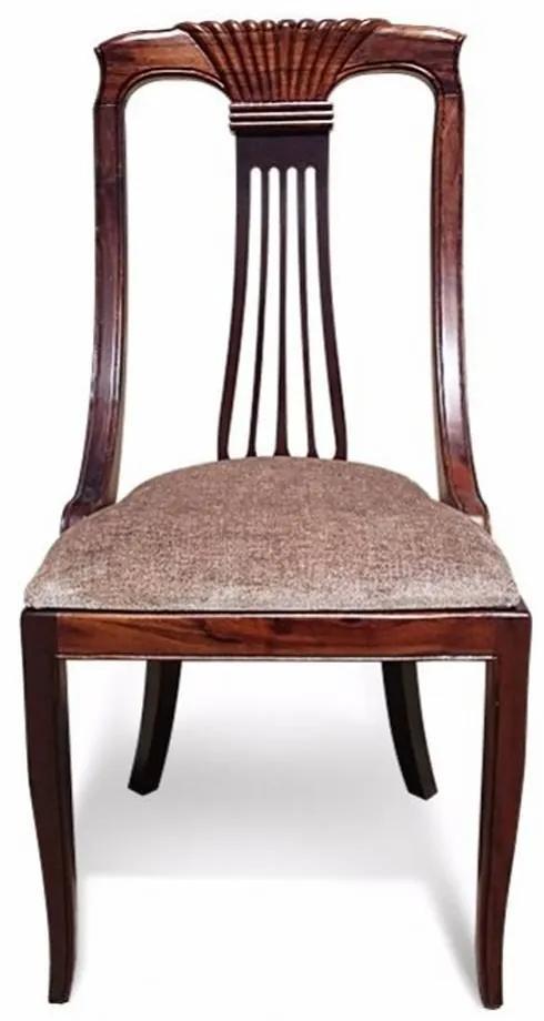 Cadeira Espanhola em Madeira Maciça com Pinturas e Tecidos Personalizáveis