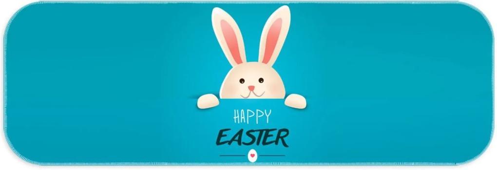 Passadeira Love Decor Wevans Páscoa Blue Happy Easter Azul
