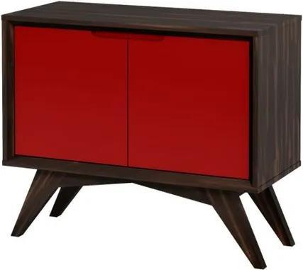 Buffet Uriel 2 Portas Envelhecido e Vermelho - Wood Prime MP 27580