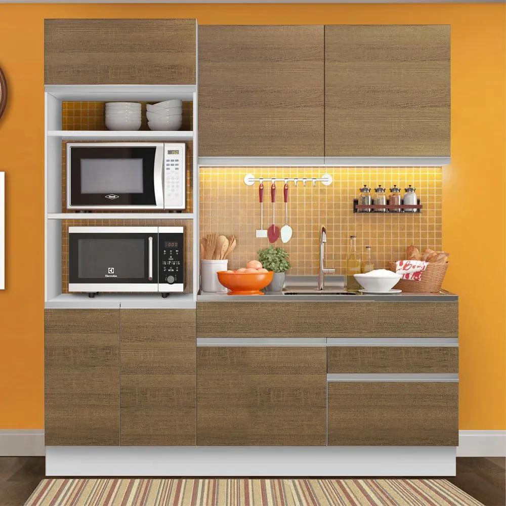Cozinha Compacta 6 Portas Glamy Lívia Rustic - Madesa
