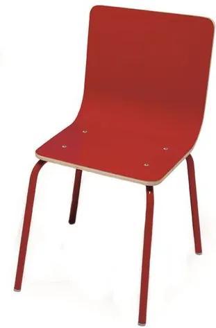 Cadeira Be-a-ba INFANTIL com Assento Multilaminado cor Vermelho - 44183 Sun House