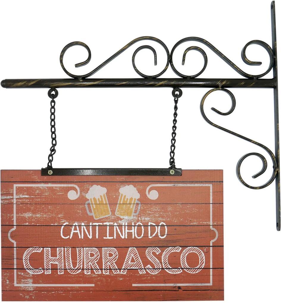 Placa Kasa Ideia Cantinho do Churrasco