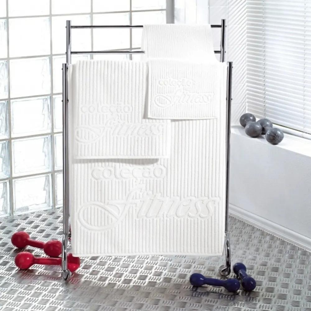 Toalha Fitness para Rosto Teka Branca 440g/m²