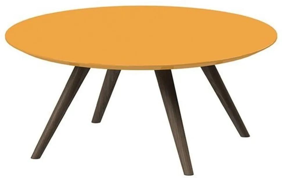Mesa de Centro Redondo Pinoquio Amarelo