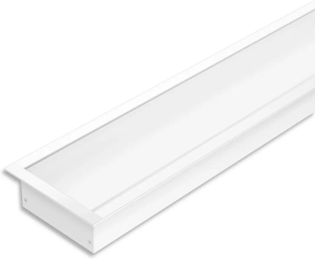 Perfil Embutir Alumínio Branco Led 32w 5700k 1 Metro