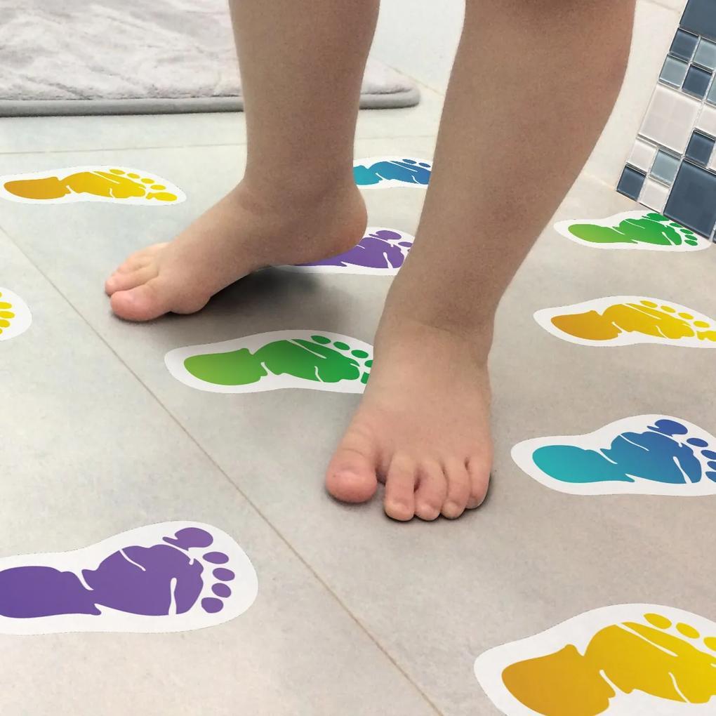Adesivo Piso Banheiro Antiderrapante Infantil Pezinhos