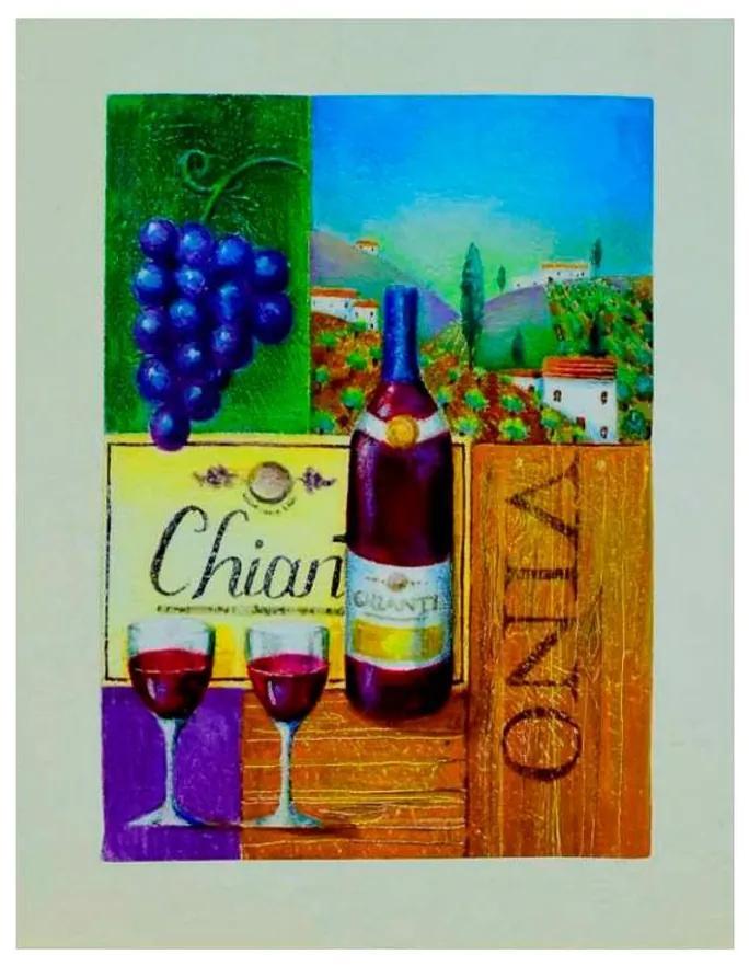 Quadro Decorativo Vinícola e Vinho - KF 46613 40x60 (Moldura 520)