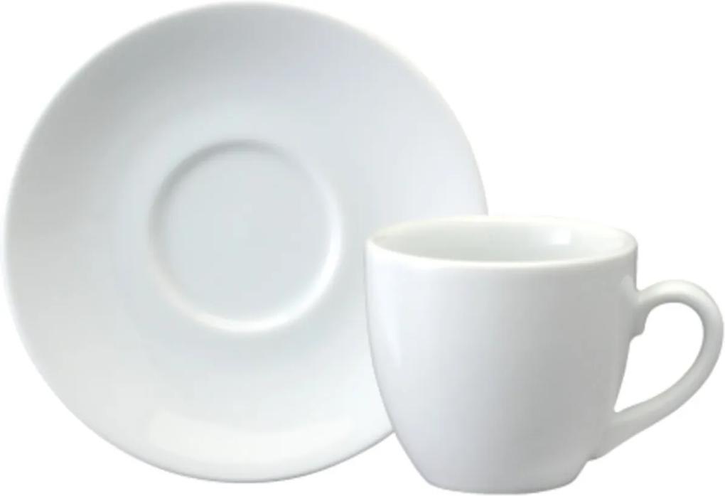 Xicara Chá com Pires 200 ml Porcelana Schmidt - Mod. Horsa