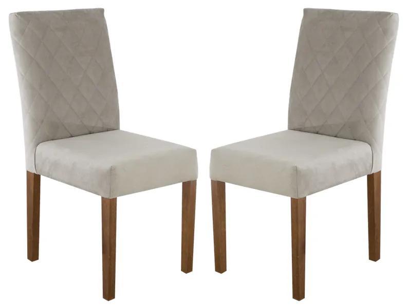 Conjunto 2 Cadeiras de Jantar Estofada Beliz - Wood Prime 33311
