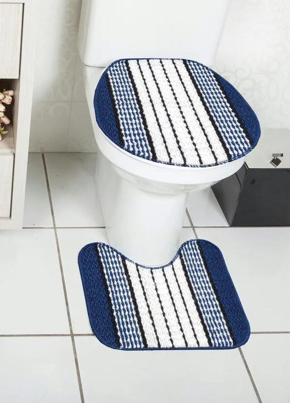 Jogo de  Banheiro Azul 3 Peças