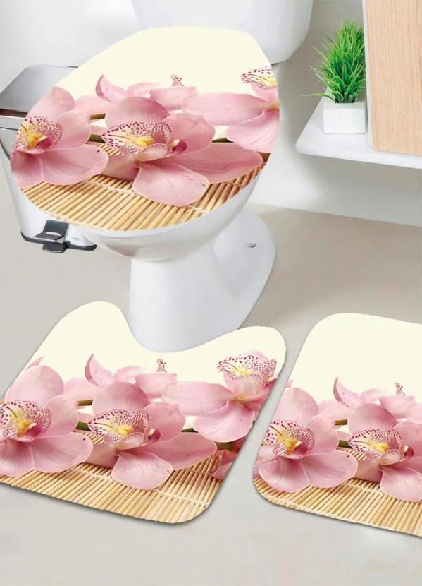 Jogo de Banheiro Floral 3 Peças