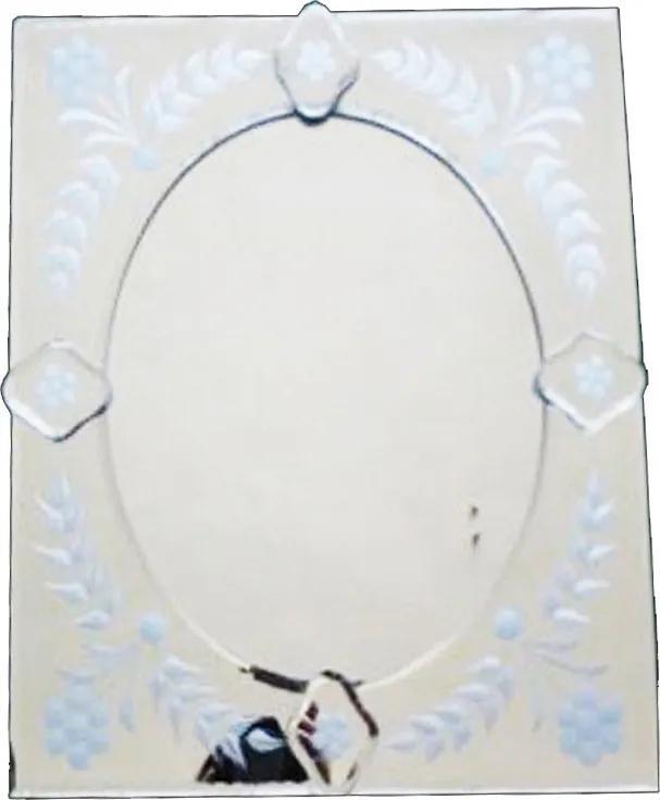 Espelho Veneziano Pequeno Quadrado com Peças Sobreposta - 37x5x33cm
