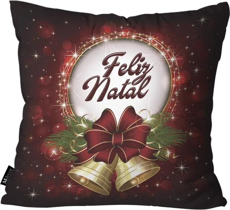 Capa para Almofada Feliz Natal Bordo45x45