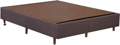 Base Cama Box Casal King Size 193cm Versátil Marrom - StarBox