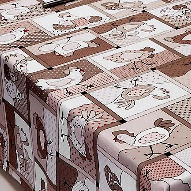 Toalha de Mesa Redonda 04 Lugares Chicken Kacyumara