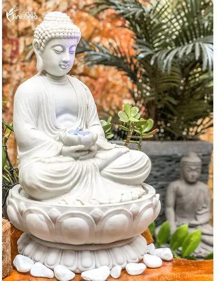 Fonte de Buda em Marmorite c/ Bacia 50cm