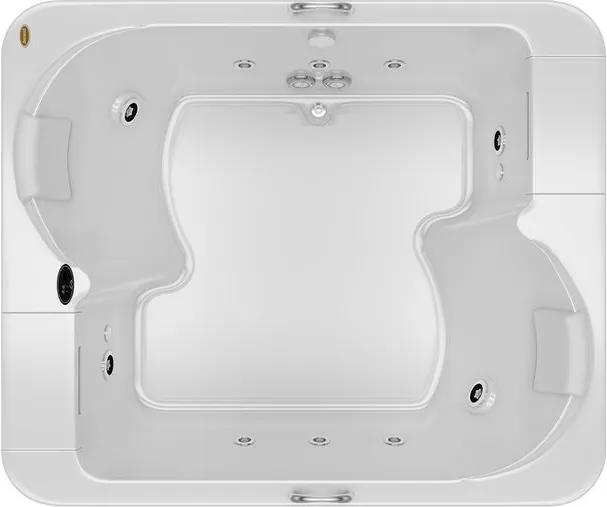 Banheira de Hidromassagem - AURA - Acrílica - 10 Jatos - 182,5x152,5x51cm - Jacuzzi - Jacuzzi