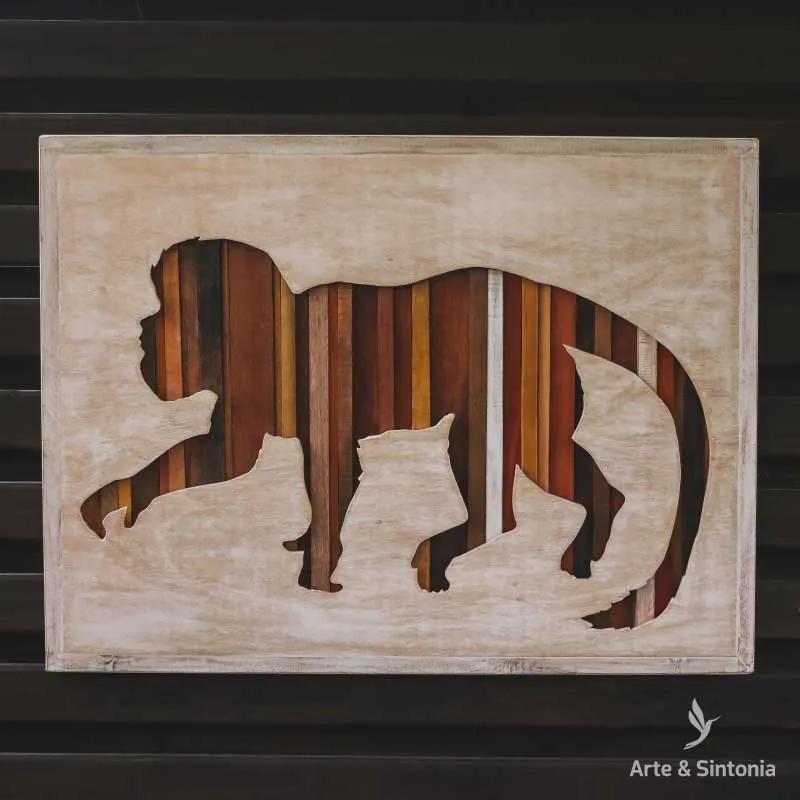 Painel em Madeira Macaco | Brasil