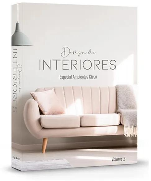 Livro Caixa Decorativo Design de Interiores Ambientes Clean -