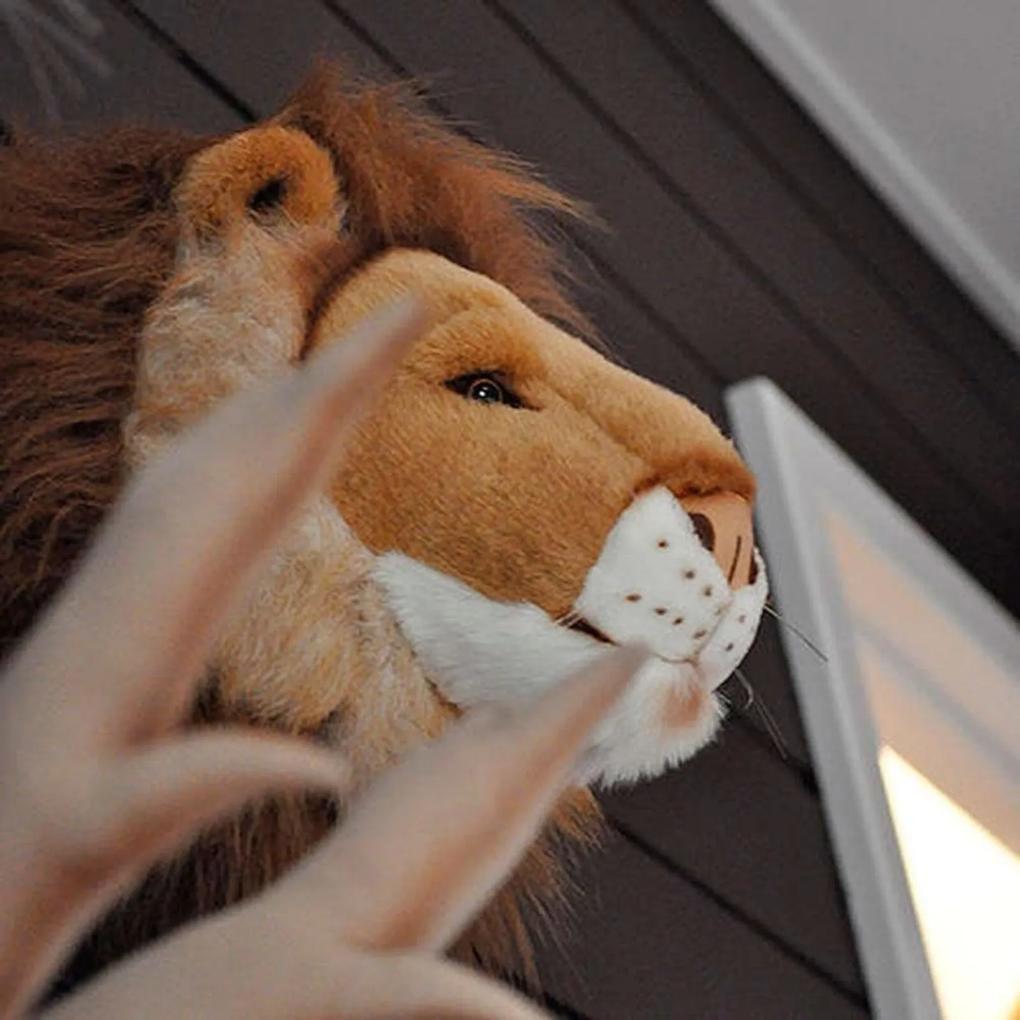 Cabeça de Leão de Parede Wild & Soft