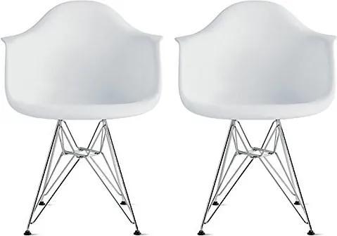 Conjunto 2 Cadeiras Eiffel Eames DAR Branca