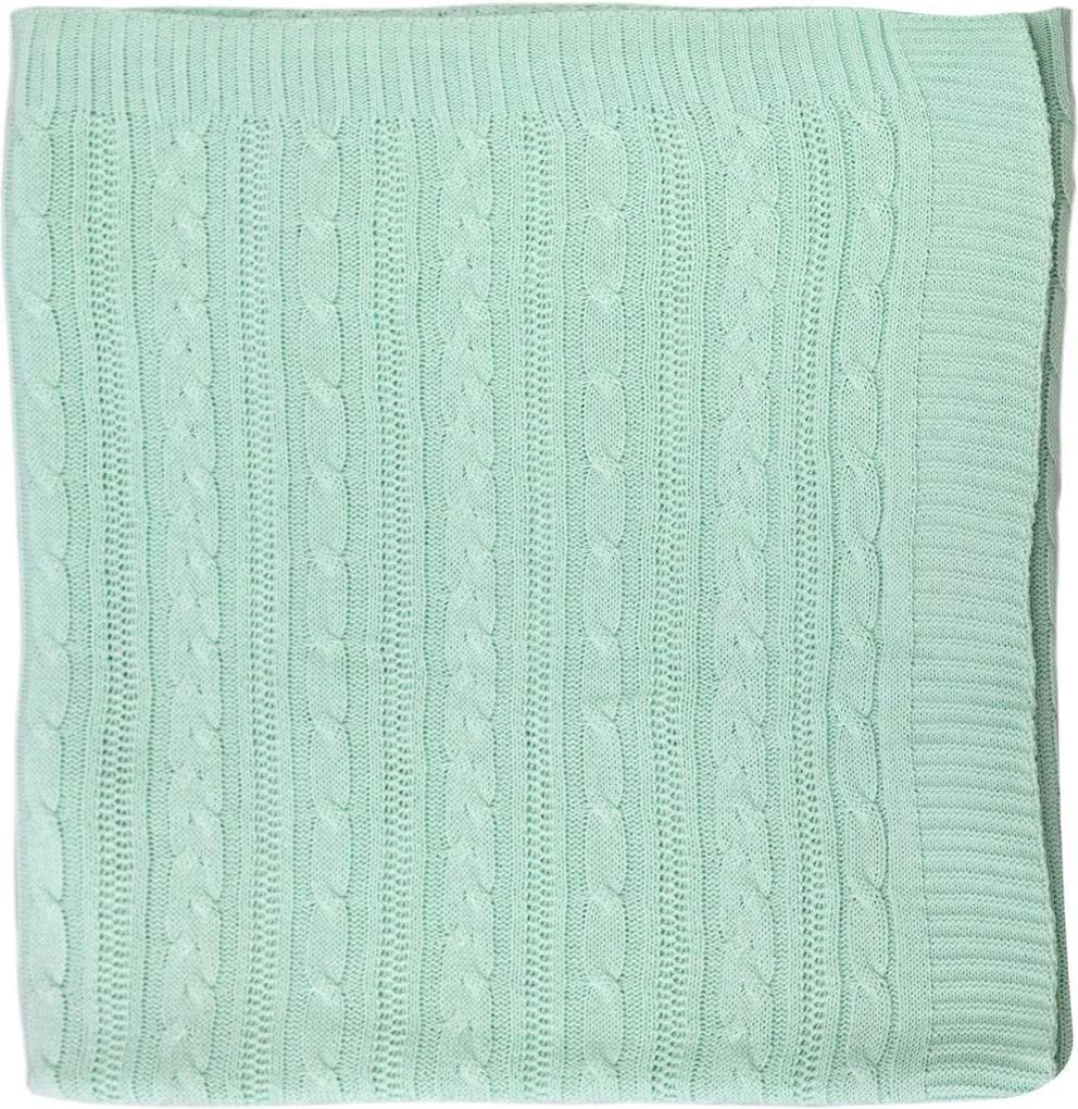 Cobertor Cobre Leito para Berço Tricot Verde Claro