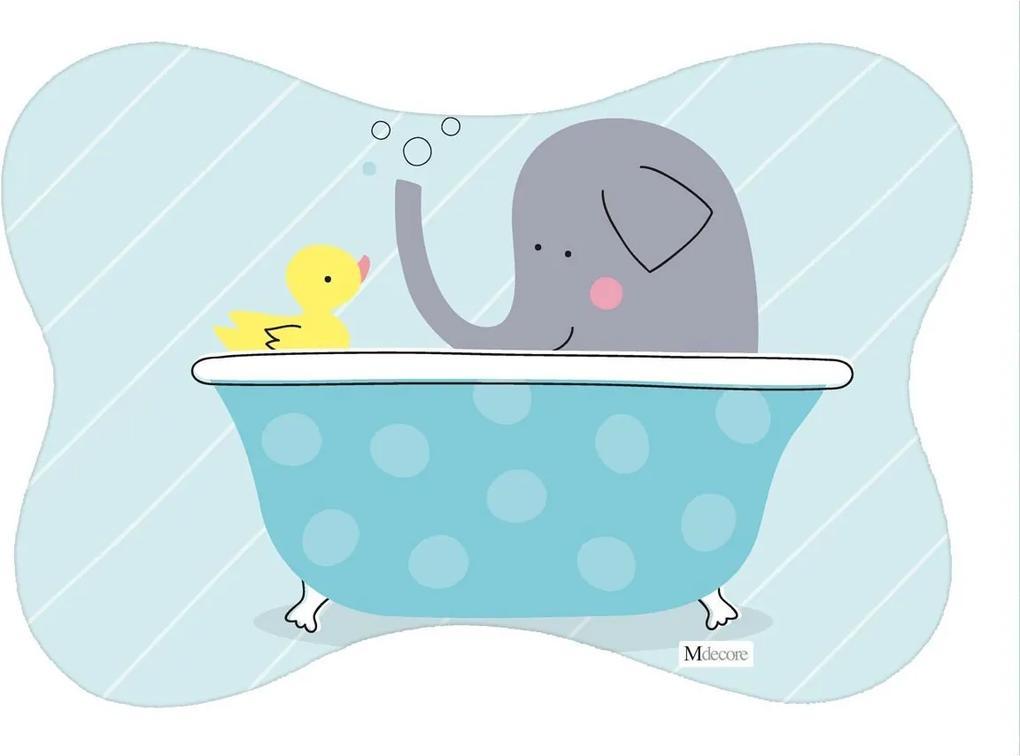 Tapete PET Mdecore Osso Elefante Azul54x39cm