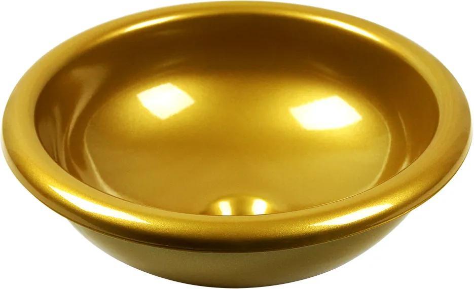 Cuba de Sobrepor Redonda 33 cm (Dourada Perolizada)