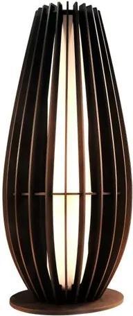 Abajur de Chão em Madeira Caramelo Mod: Orbit Tam: 50cm SOQ: E27