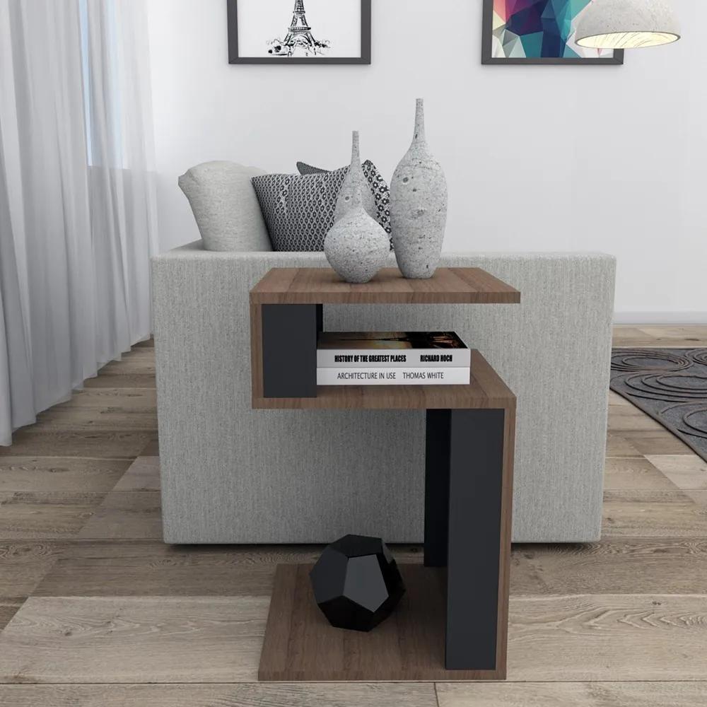 Mesa de Canto 4001 Nogueira/Preto - Appunto