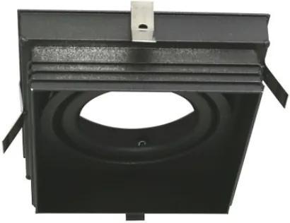 Plafon Embutir Aluminio Preto 9,6cm