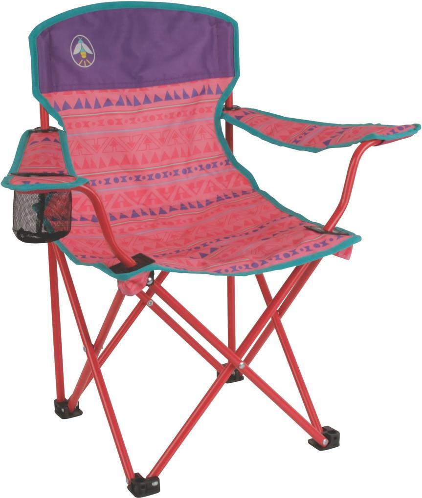 Cadeira Dobrável Infantil Coleman Rosa