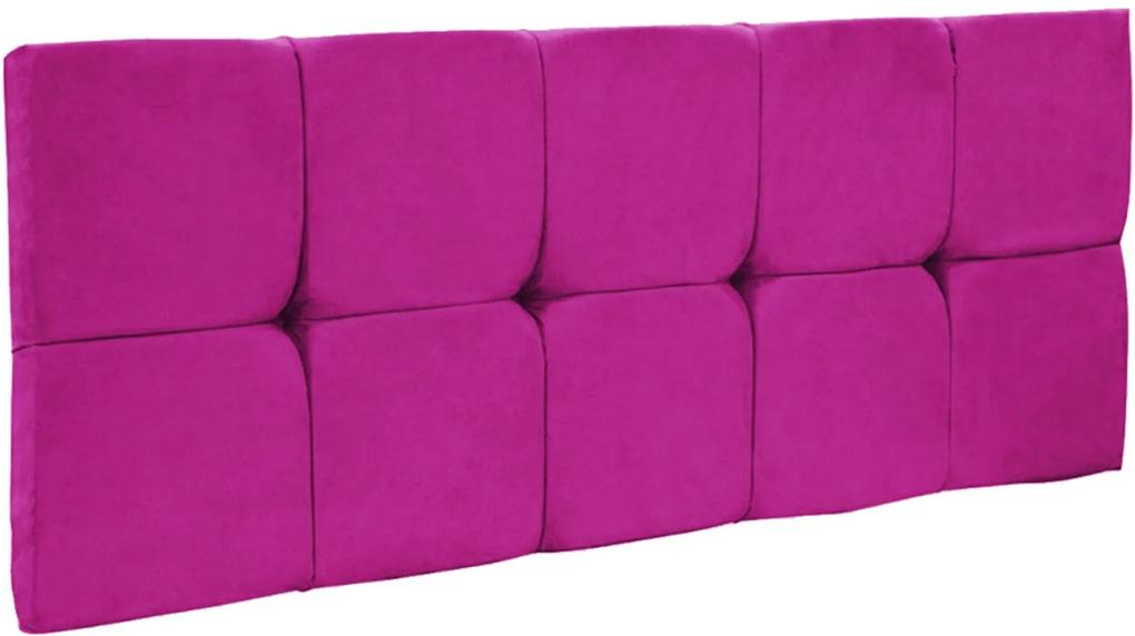Cabeceira Painel Nina para Cama Box Solteiro 90 cm Suede Pink - D'Rossi