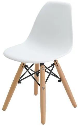 Cadeira INFANTIL Eames Eiffel sem Braco PP Branco - 38611 Sun House