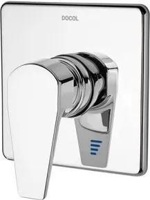 """Acabamento Misturador Monocomando para Chuveiro Docol Lift 3/4"""" Alta Vasão Cromado"""