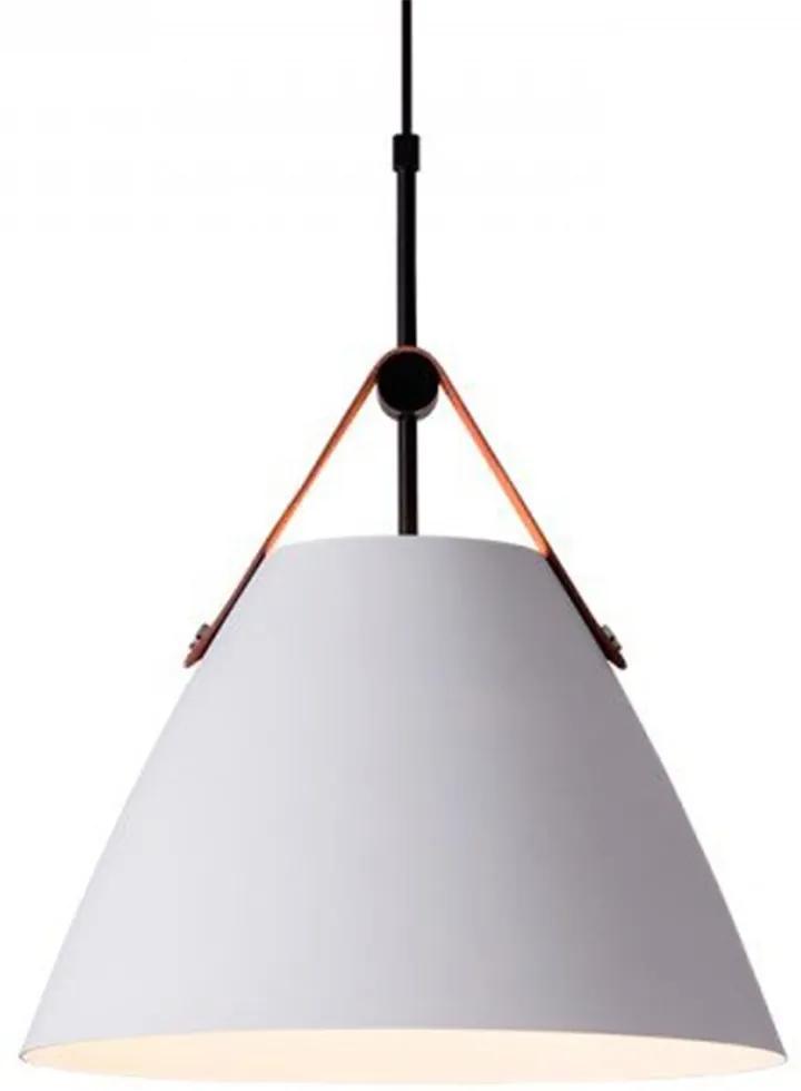 Pendente RPX Couro e Alumínio Branco 36cm - Startec - 149260028