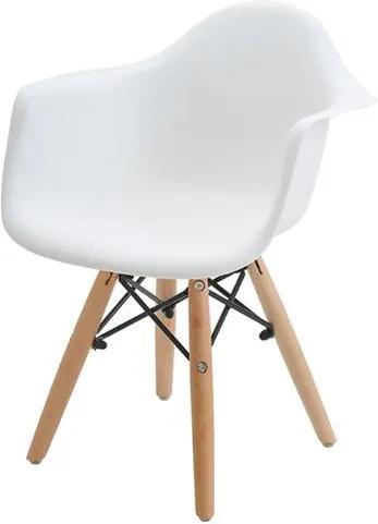 Cadeira INFANTIL Eames Eiffel com Braco PP Branco - 38204 Sun House