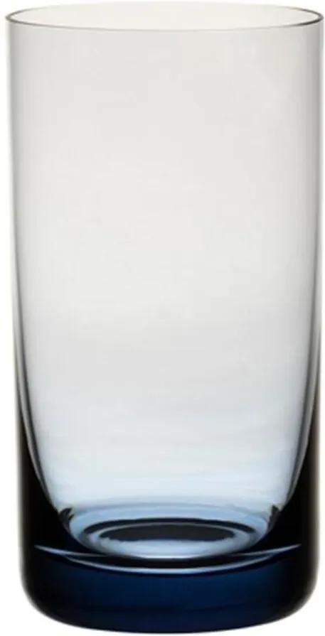 Jogo de 6 Copos Coloridos De Cristal Água 235ml Ametista