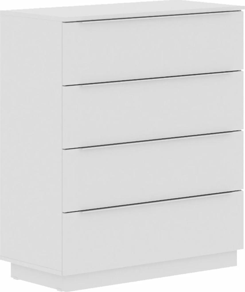 Cômoda Madesa de madeira 4 gavetas  Branco