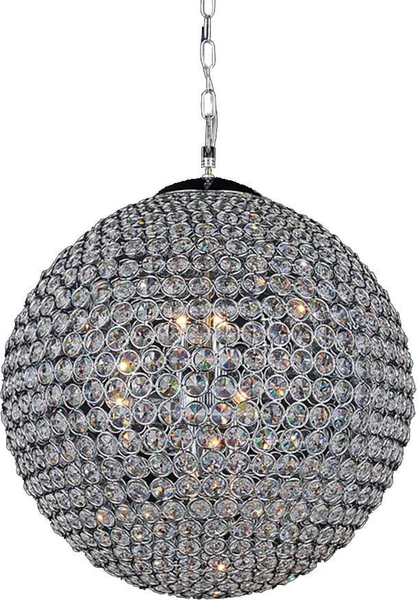 Lustre Clássico em Cristal 80x80 cm