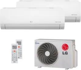 Ar Condicionado Multi Split Inverter LG 16.000 BTUs (2x Evap HW 8.500) Quente/Frio 220V