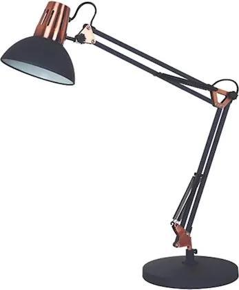 Luminária De Mesa Metal Preta