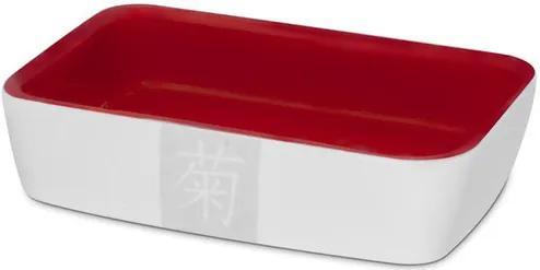 Tigela para Shoyu Branco e Vermelho