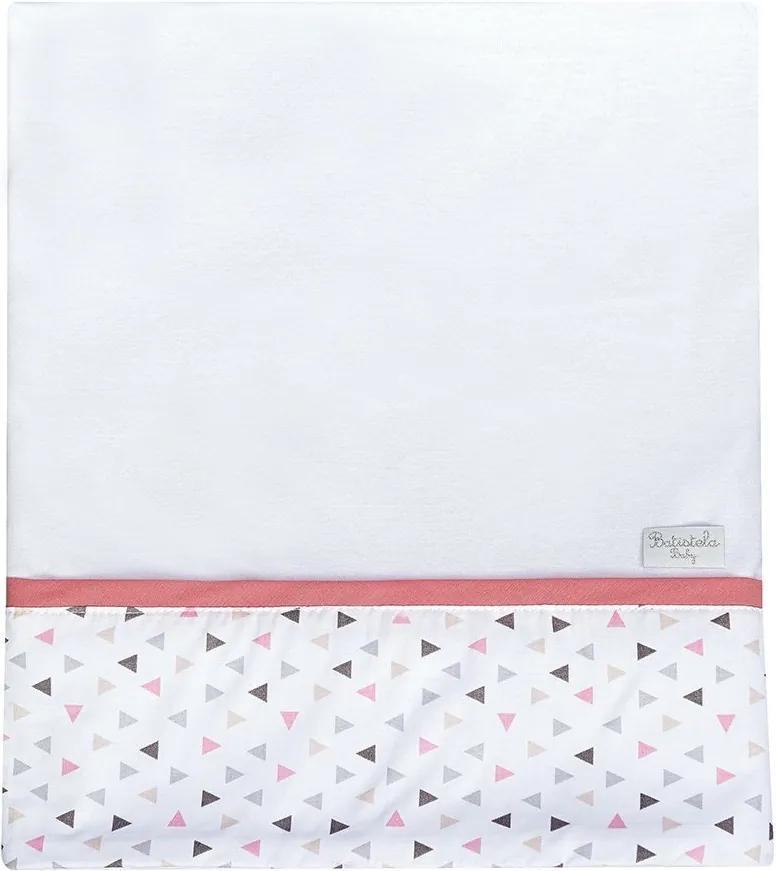 Cueiro Lhama Triângulo Rosa Malha 100% Algodão