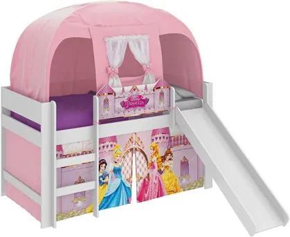 Cama Infantil Escorregador Barraca Princesas Disney Branco -  Pura Magia