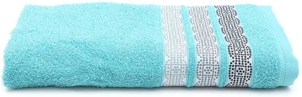 Toalha de Banho Santista Prata Vitri Azul