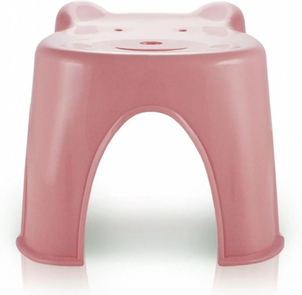 Banquinho Plástico Infantil Jacki Design Suporta Até 45 Kg Rosa